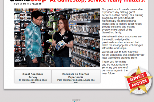 Tell GameStop Survey