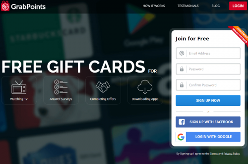 GrabPoints – Earn Free Gift Cards
