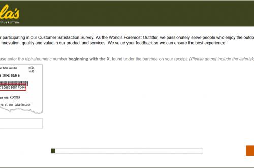 CabelasFeedback - Cabela's Outfitter Survey